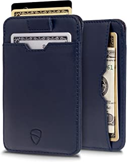 Vaultskin Chelsea ultra-slim leather card-protecting RFID wallet (Navy Blue)