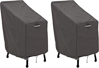 Classic Accessories Ravenna Patio Bar Chair/Stool Cover, 2-Pack