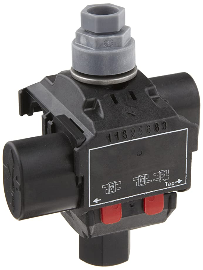 Morris Products 96106 Above Ground Insulation Piercing Connector, 1 Port, 1/0 - 8 Main Range, 2 - 10 Tap Range