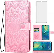 Asuwish Phone Case for Huawei Mate 20 Wallet Cases with Tempered Glass Screen Protector and Leather Slim Flip Cover Card H...