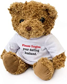 Please Forgive Your Darling Husband - Teddy Bear - Cute Soft Cuddly - Apology Sorry Gift Present