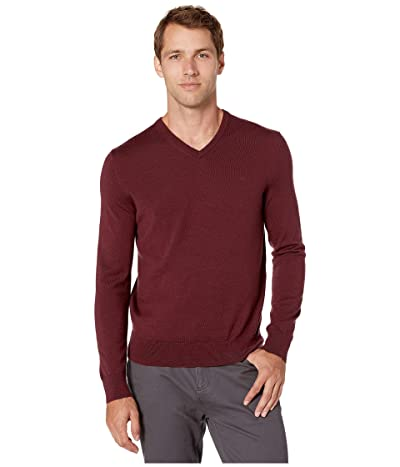 Calvin Klein Merino V-Neck Sweater 12 (Heartwood) Men
