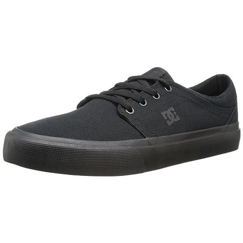 DC Men s Trase TX Unisex Skate Shoe Black ee8bfb667
