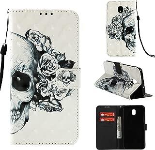 Galaxy J7 Aero/J7 Top/J7 Crown/J7 Aura/J7 Refine/J7 Eon/J7 Star Glitter, UZER 3D Premium PU Leather Shockproof Series Kickstand Function Folio Flip Wallet Case with Card Slots & Money Slot