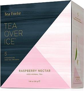 Tea Forte TEA OVER ICE Blends, Five Iced Tea Infusers, Raspberry Nectar Herbal Tea