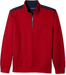 Nautica Men's 1/4 Zip Pieced Fleece Sweatshirt
