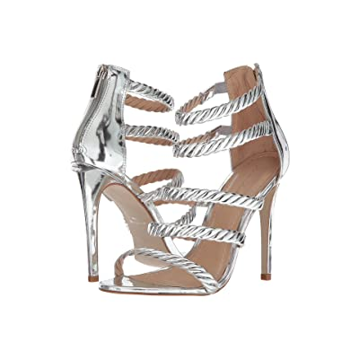 Massimo Matteo 5-Strap Open Toe (Silver) High Heels