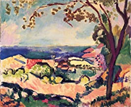 "Henri Matisse View of The Sea, Collioure 1906 The Barnes Foundation 30"" x 25"" Fine Art Giclee Canvas Print (Unframed) Repr..."