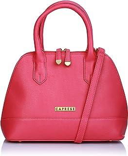 Caprese Womens Zipper Closure Satchel Handbag