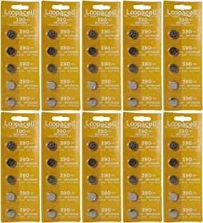 LOOPACELL 50 D389/390PK Watch/Electronics Battery, 1.5 Silver Oxide