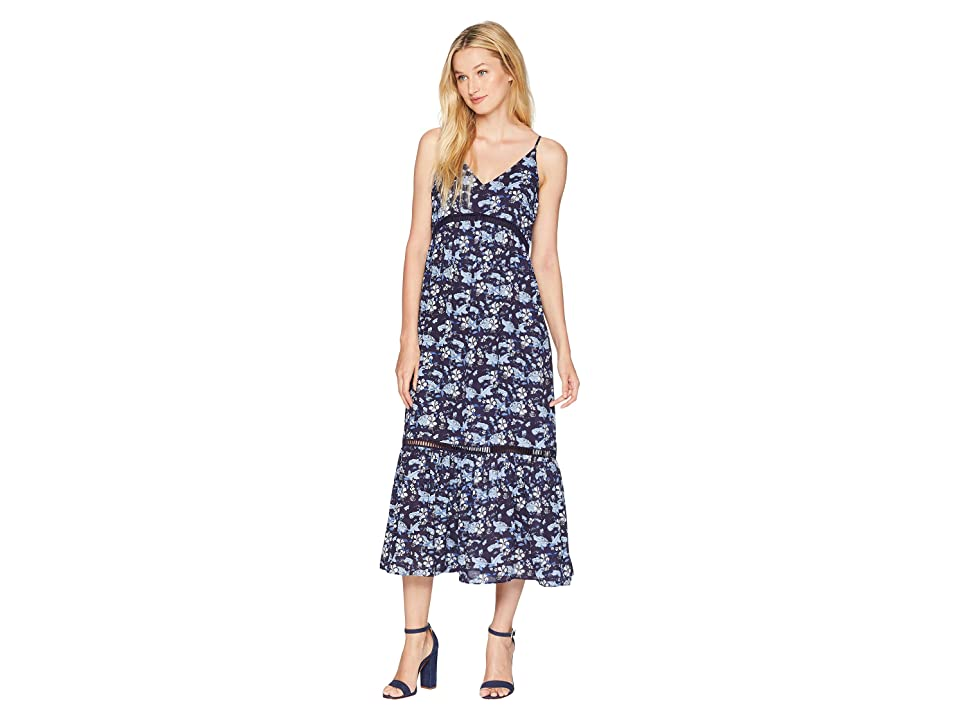 CeCe V-Neck Ivy Forest Maxi Dress (Bluebird) Women
