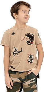 GULLIVER T-Shirt da Ragazzo Bambino Manica Corta Cotone Estate