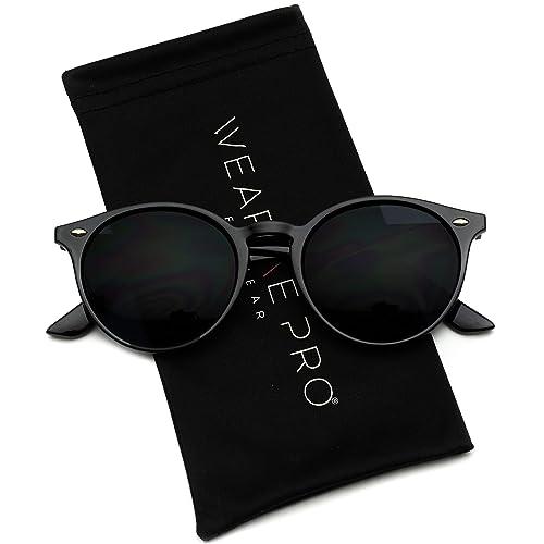 668cc665e69 WearMe Pro - Classic Small Round Retro Sunglasses