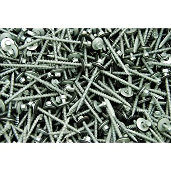150 Hex Head #10 x 3 Pole Barn Screw Rubber Washer Galvanized Roofing Siding