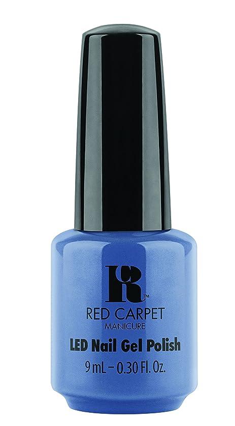 残基クレーン動かないRed Carpet Manicure - LED Nail Gel Polish - Love Those Baby Blues - 0.3oz/9ml