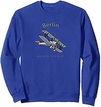 Berlin Coordinates Vintage Biplane Aviators Sweatshirt