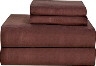 Celeste Home Ultra Soft Flannel Sheet Set with Pillowcase, Full, Coffee Bean