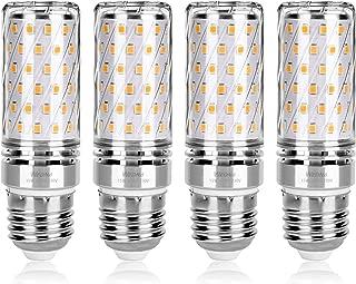 Wedna E27 LED maíz bombilla, 15W Blanco Cálido, 120W Incandescente Bombillas Equivalentes, 1500Lm, Edison tornillo bombillas, No regulable - 4 unidades