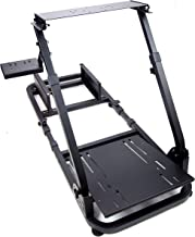 Tanaka Driving Simulator Wheel Stand Cockpit Gaming Chair with Gear Shifter Mount (Black)