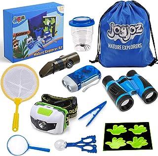 Joyjoz Outdoor Exploration Kit, Explorer Kit for Kids with Bug Catcher, Binoculars, Flashlight, Compass, Magnifying Glass,...