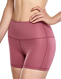 6 inches CRZ YOGA High Waisted Gym Biker Workout Shorts for Women Side Pockets Luxury Naked Feeling