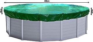 QUICK STAR Cubierta de piscina de invierno redonda 180g - m² para Poolsize 420 - 460 cm Dimension de lona o 520 cm Verde