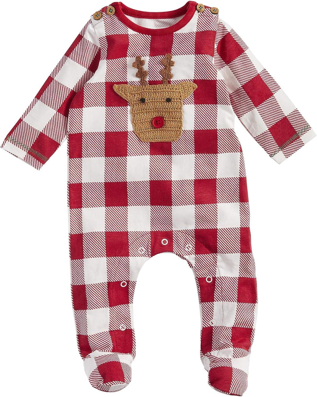 Mud Pie Baby Boys' Sleeper Reindeer Ranking cheap TOP6 Check Crochet