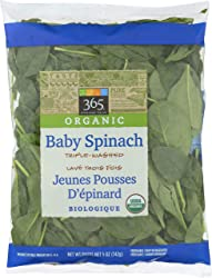 365 Everyday Value, Organic Baby Spinach, 5 oz