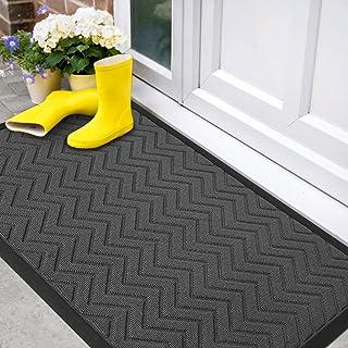 Color&Geometry Outdoor Door Mat 24X47 Rubber Mats, Low-Profile Doormat, Indoor Outdoor, Waterproof, Heavy Duty Mat for Flo...
