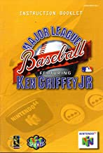 Major League Baseball Featuring Ken Griffey Jr N64 Instruction Booklet (Nintendo 64 Manual Only) (Nintendo 64 Manual)