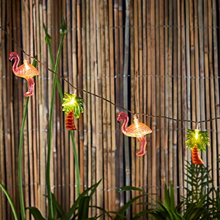 Vintage Flamingo and Palm Tree Lights