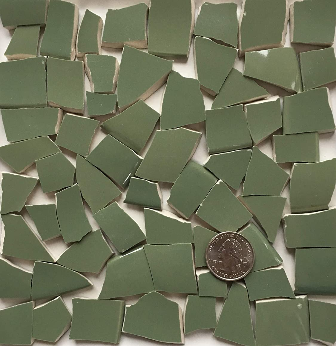 Mosaic Art & Craft Supply ~ Sage Green Tiles (T A468x)