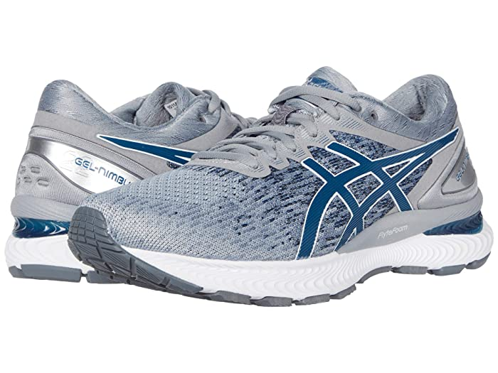 ASICS  GEL-Nimbus 22 (Piedmont Grey/Mako Blue) Mens Running Shoes