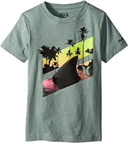 Hurley Kids Shark Slash Tee (Big Kids)