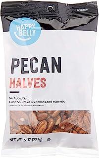 Amazon Brand - Happy Belly Pecan Halves, 8 Ounce