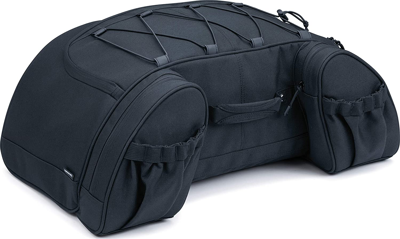 Kuryakyn 5281 Momentum Hitchhiker Motorcycle Travel Luggage: Weather Resistant Trunk Rack Bag, Black: Automotive