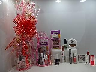 Gloria mezcla marcas maquillaje cesta de regalo para ella, (7piezas)