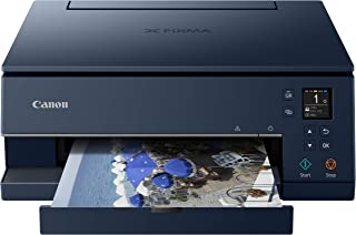 Canon TS6320 All-In-One Wireless Color Printer with Copier, Scanner and Mobile Printing, Navy, Works with Alexa