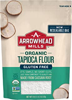 Arrowhead Mills Organic Gluten Free Tapioca Flour, 18 oz. Bag (Pack of 6)