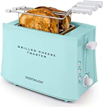 Nostalgia TCS2AQ Grilled Cheese Easy-Clean Toaster Baskets and Adjustable Toasting Dial, Aqua