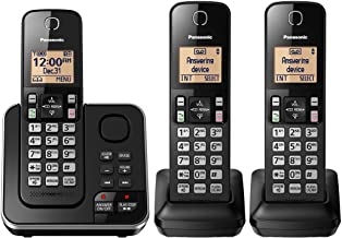 Panasonic KX-TGC363B / KX-TG633SK Dect 6.0 3 Handset Landline Telephone (KX-TGC362B +1)(Renewed) photo