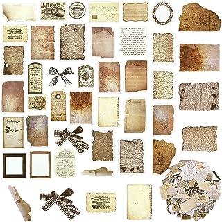 108 Papiers de Scrapbooking Vintage Autocollants de Bricolage Papier de Découpage Classique Vieux Papier Parchemin Vieilli...