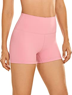 CRZ YOGA Women's Naked Feeling Biker Shorts Workout Athletic Yoga Shorts for Women Tights Running - 3 Inches