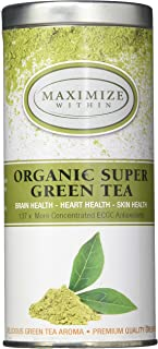 Maximize Within Organic Matcha Super Green Tea Latte,Superior Antioxidant Content - All Day Energy - Improved Health! PREMIUM GRADE (15 Servings)