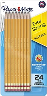 Paper Mate EverStrong #2 Pencils, Reinforced, Break-Resistant Lead When Writing, 24-Pack