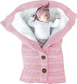 Unisex Infant Swaddle Blankets Cozy Fleece Knit Nursery Newborn Baby Girls Boys Sleeping Wraps New Pink
