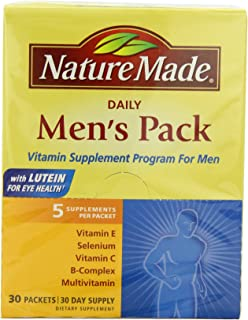 Nature Made Daily Men's Pack Vitamin Supplement Program 30 Each