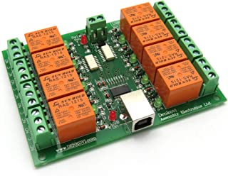USB Eight (8) Channel Relay Board for Automation- 12VDC