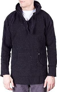Baja Style Mens Fleece Poncho Hoodie Sweater