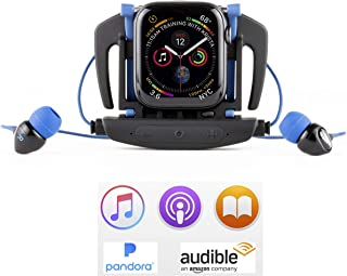 H2O Audio Interval Swim Headphones for The Apple Watch Series 3, 4, 5, Waterproof IPX8, in-Ear Stereo Earbuds, Noise Cancelling, No Drag Short Cord, Great for Swimming, Running and Sports Activities